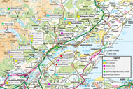 salmon fishing on the novar fishings, river alness – fishing holiday accommodation map